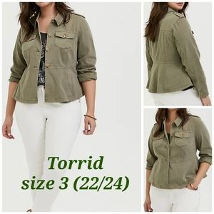Torrid Utility jacket size 3 (women plus 22/24)